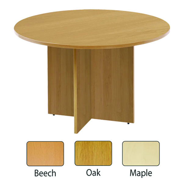 Arista Maple 1200mm Round Meeting Table KF72050