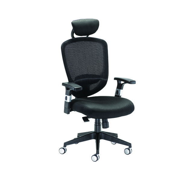 Arista Blue Mesh High Back Task Chair With Headrest KF72242
