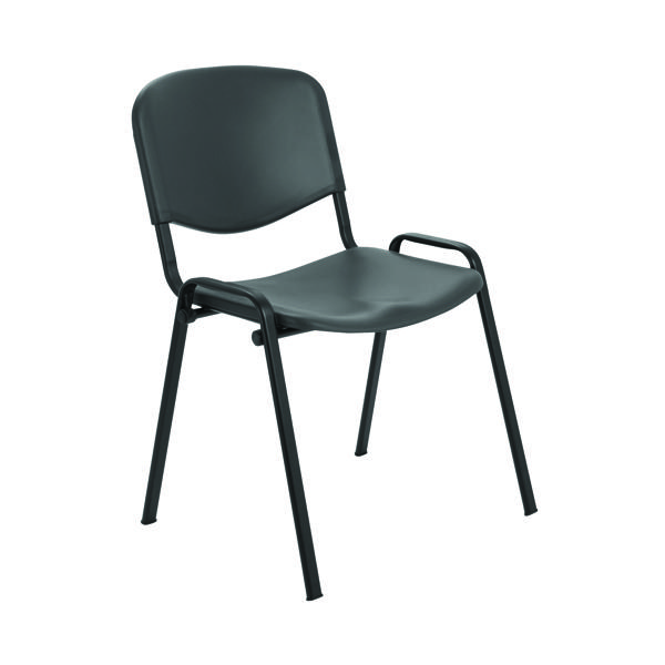 Jemini Multi-Purpose Polypropylene Stacking Charcoal Chair KF72369