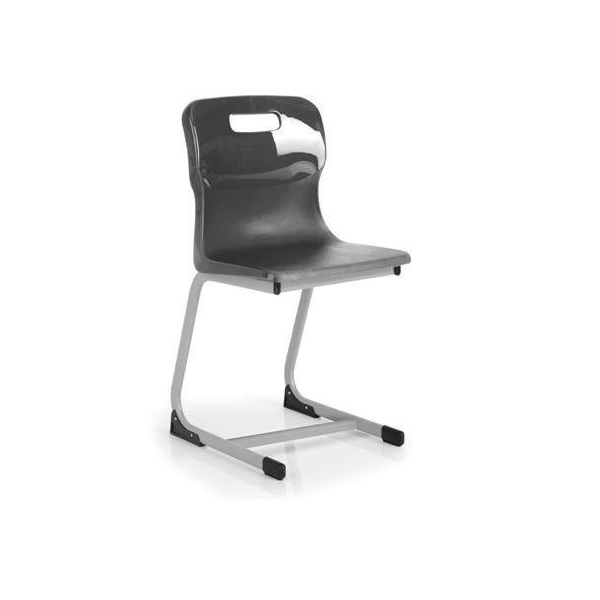 Titan Charcoal 430mm Reverse Cantilever Chair (Pack of 1) KF72558