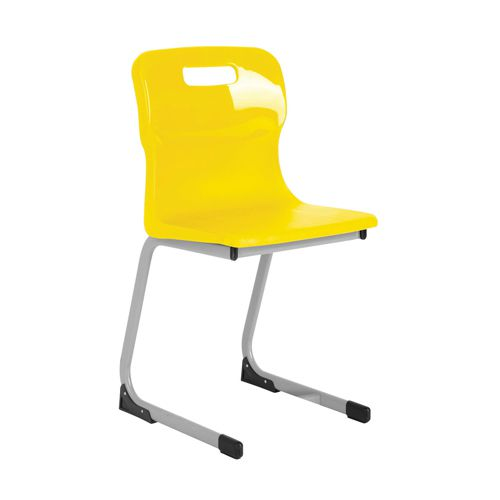 Titan Yellow 460mm Reverse Cantilever Chair (Pack of 1) KF72564