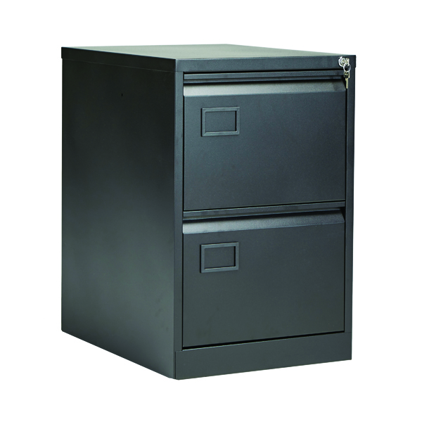 Jemini Black 2 Drawer Filing Cabinet AOC2-AV1