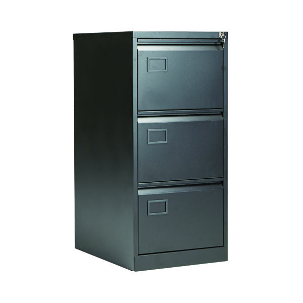 Jemini Black 3 Drawer Filing Cabinet AOC3-AV1