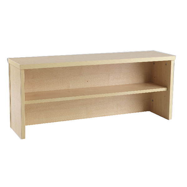 Jemini Intro Warm Maple 800mm Reception Desk Riser KF73524