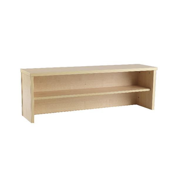 Jemini Intro Warm Maple 1200mm Reception Desk Riser KF73525