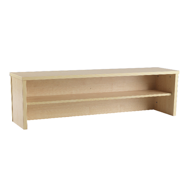 Jemini Intro Warm Maple 1600mm Reception Desk Riser KF73526