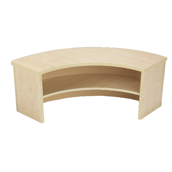 Jemini Intro Warm Maple 90 Degree Corner Desk Riser KF73527