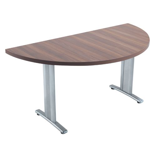 Arista Lightweight Folding Conference Table 1600mm Semi-Circular Walnut (Pack of 1) KF73539
