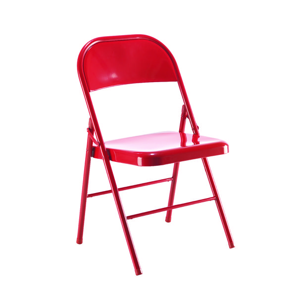 Jemini Red Metal Folding Chair KF73587