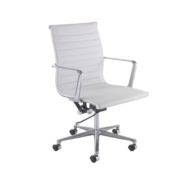 Avior Campania Executive Leather Look Chair White (Pack of 1) KF73891