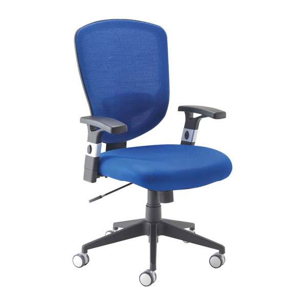 Arista Fusion Blue High Back Mesh Chair With Lock and Tilt KF73907