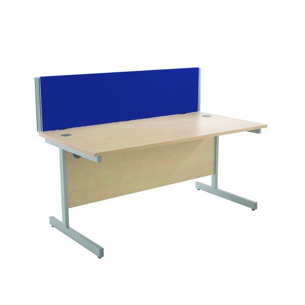Jemini Blue 1500mm Straight Desk Screen KF74004