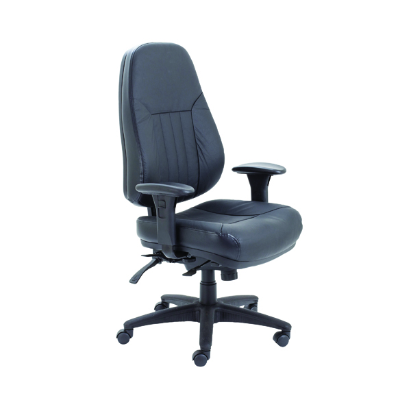 Arista Lucania Leather Task Black Chair KF74022