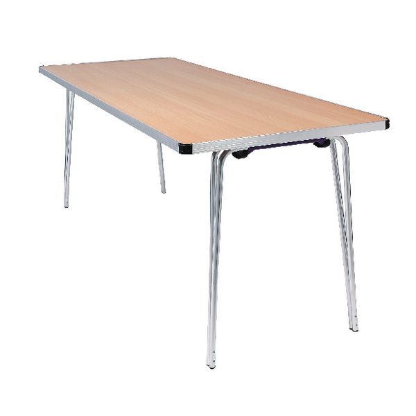 Jemini Beech Rectangular W1830xD685xH698mm Aluminium Folding Table KF74026