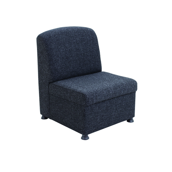 Arista Charcoal Modular Reception Chair KF74203