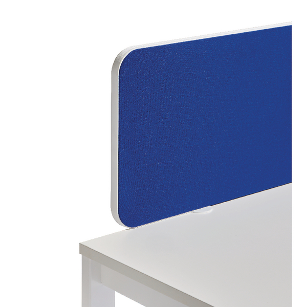 Jemini White Trim Blue 1200mm Straight Rounded Corner Screen KF74260