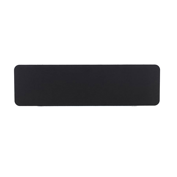 Jemini White Trim Black 1400mm Straight Rounded Corner Screen KF74265