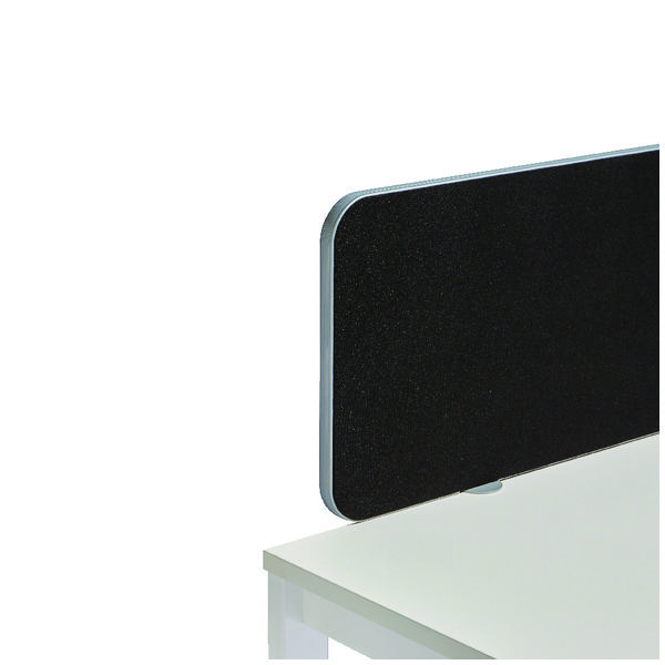 Jemini White Trim Black 1000mm Straight Rounded Corner Screen KF74271