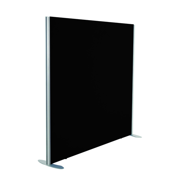 Jemini Black 1200x1600 Floor Standing Screen Including Feet KF74327