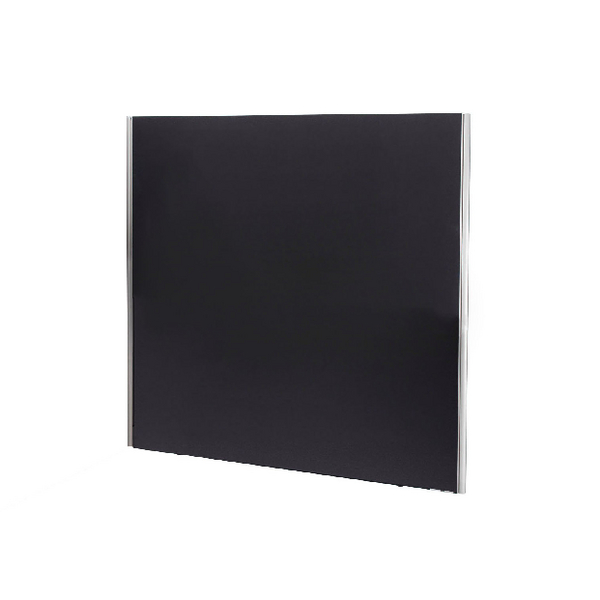 Jemini Black 1800x1600 Floor Standing Screen Including Feet KF74339