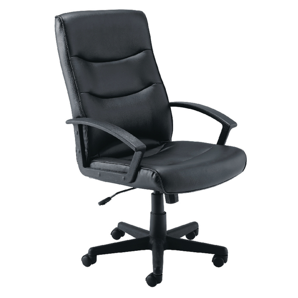 First Hudson Leather Look Manager Chair KF74919