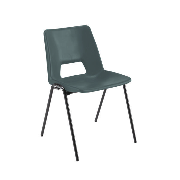 Jemini Polypropylene Stacking Black Chair KF74957