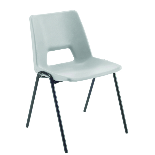 Jemini Polypropylene Stacking Chair Grey KF74960