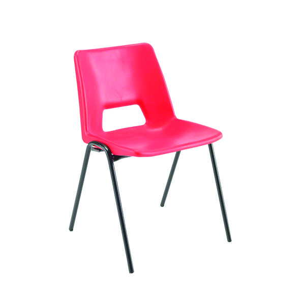 Jemini Polypropylene Stacking Red Chair KF74961
