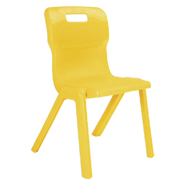 Titan One Piece School Chair 260mm Yellow (30 Pack) KF78599