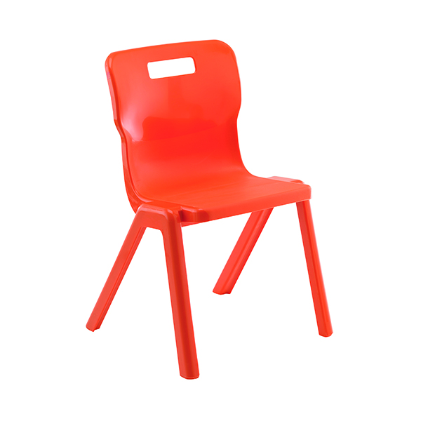 Titan 1 Piece 380mm Orange Chair (30 Pack) KF78623