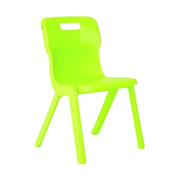 Titan One Piece Chair 430mm Lime (30 Pack) KF78634