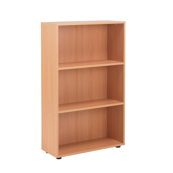 Jemini 18 Beech 1236mm Two Shelf Open Bookcase KF78966