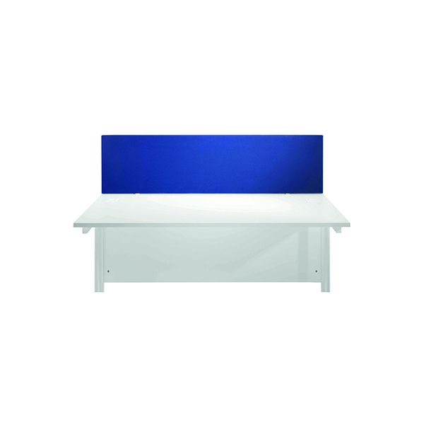 Jemini Blue 1600mm Straight Desk Screen KF78981