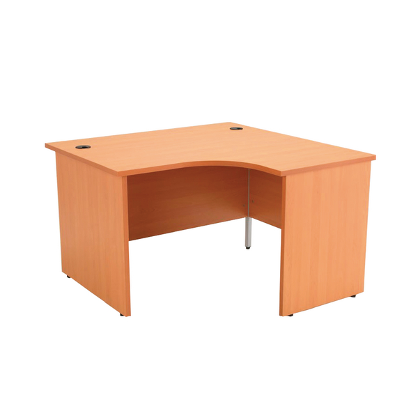 Jemini Beech Right Hand Panel End 1200mm Radial Desk KF838060