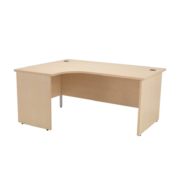 Jemini Maple 1800mm Left Hand Panel End Radial Desk KF838071