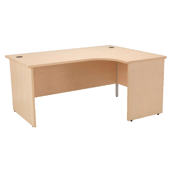 Jemini Maple 1800mm Right Hand Panel End Radial Desk KF838074