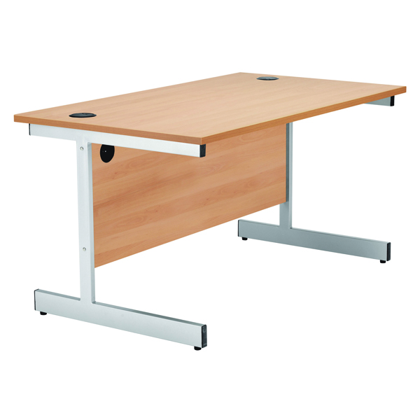 Jemini Beech 1600mm Rectangular Cantilever Desk KF838078