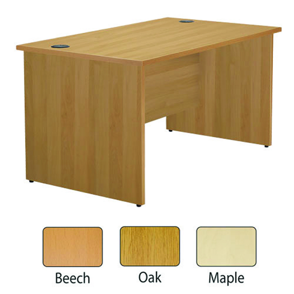 Jemini Maple 1800mm Panel End Rectangular Desk KF838092