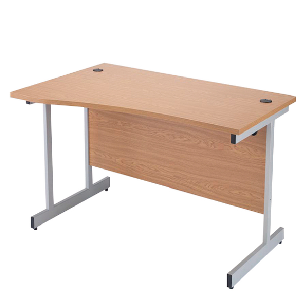 Jemini Oak 1600mm Left Hand Cantilever Wave Desk KF838094