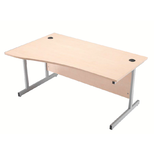 Jemini Maple 1600mm Left Hand Cantilever Wave Desk KF838095