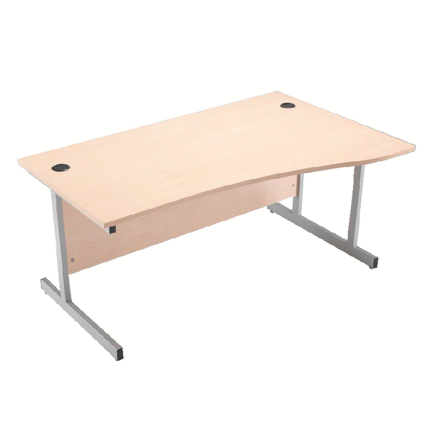 Jemini Maple 1600mm Right Hand Cantilever Wave Desk KF838098