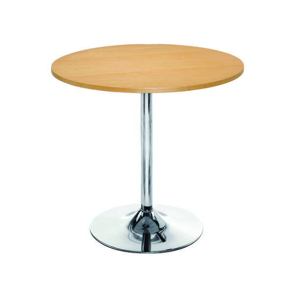 Arista Beech/Chrome 800mm Small Bistro Trumpet Table KF838282