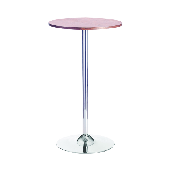 Arista Walnut/Chrome 600mm Tall Bistro Trumpet Table KF838317