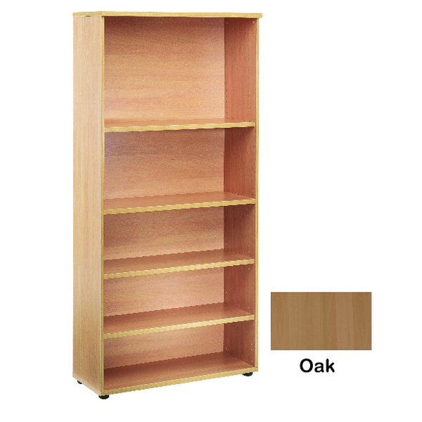 Jemini 4 Oak Shelf 2000mm Bookcase KF838419