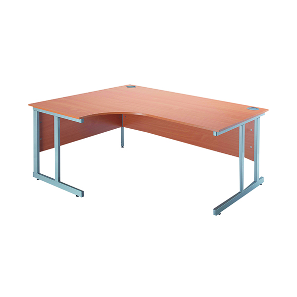 Jemini Intro Bavarian Beech 1500mm Radial Left Hand Cantilever Desk KF838523