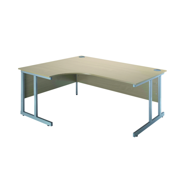 Jemini Intro Warm Maple 1500mm Radial Left Hand Cantilever Desk KF838525