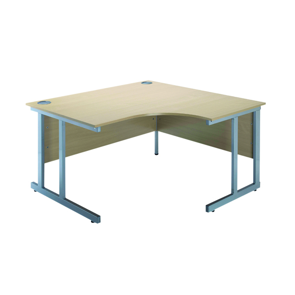 Jemini Intro Warm Maple 1200mm Radial Right Hand Cantilever Desk KF838528