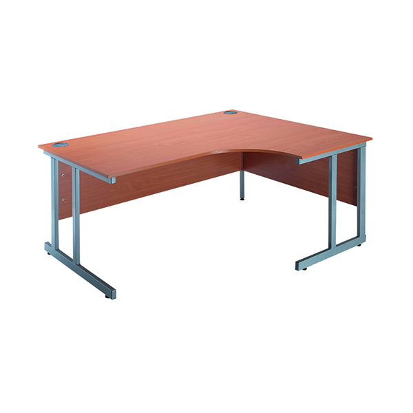 Jemini Intro Bavarian Beech 1500mm Radial Right Hand Cantilever Desk KF838529