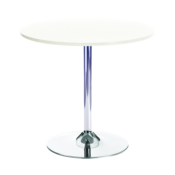 Arista Small White Bistro Trumpet Table KF838544