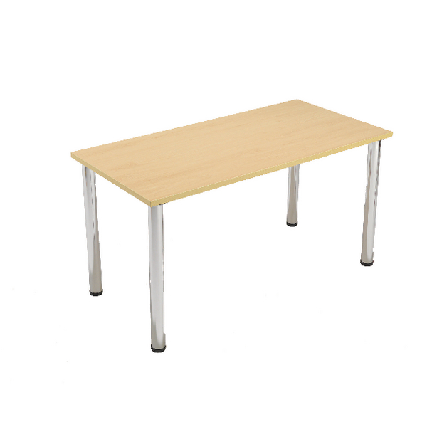 Jemini Beech Rectangular Meeting Room Table Standard Leg KF838573